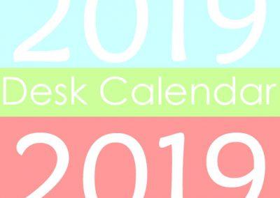 2019 Desk Calendar Class