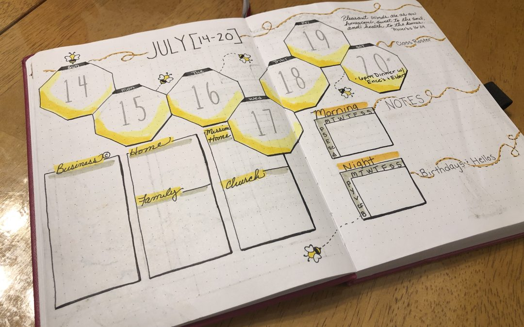 Bullet Journal Weekly Spread July 14-20