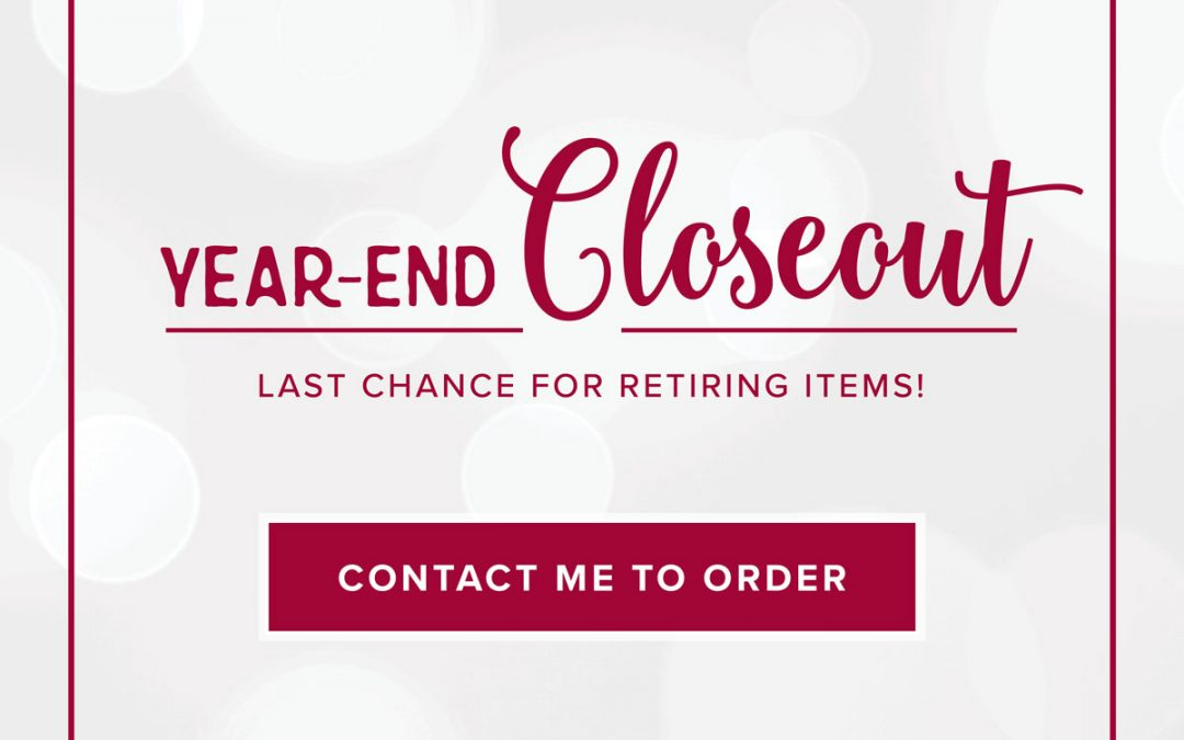 Year End Sale December 3rd thru January 2nd