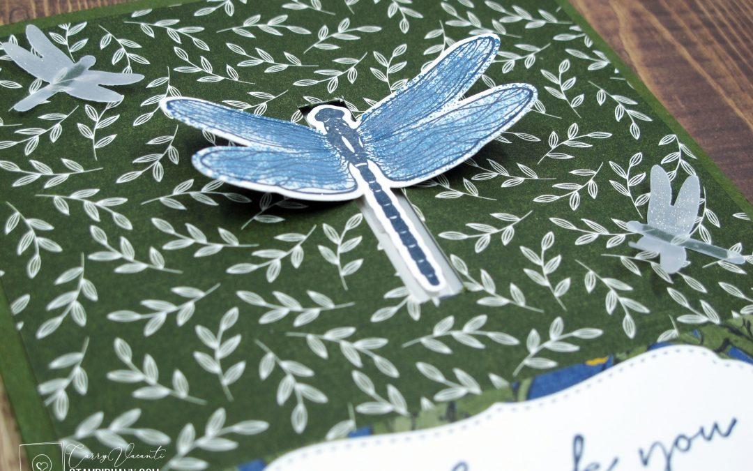 Dragonfly Garden Card