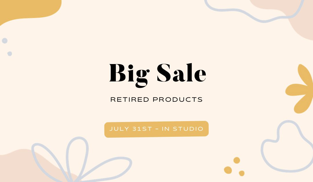 The Big Sale is This Saturday!